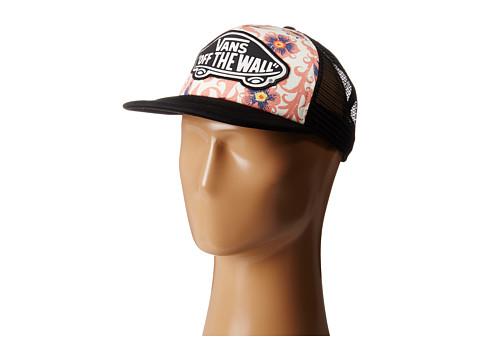 Vans - Beach Girl Trucker Hat (Floral Burgundy) Caps