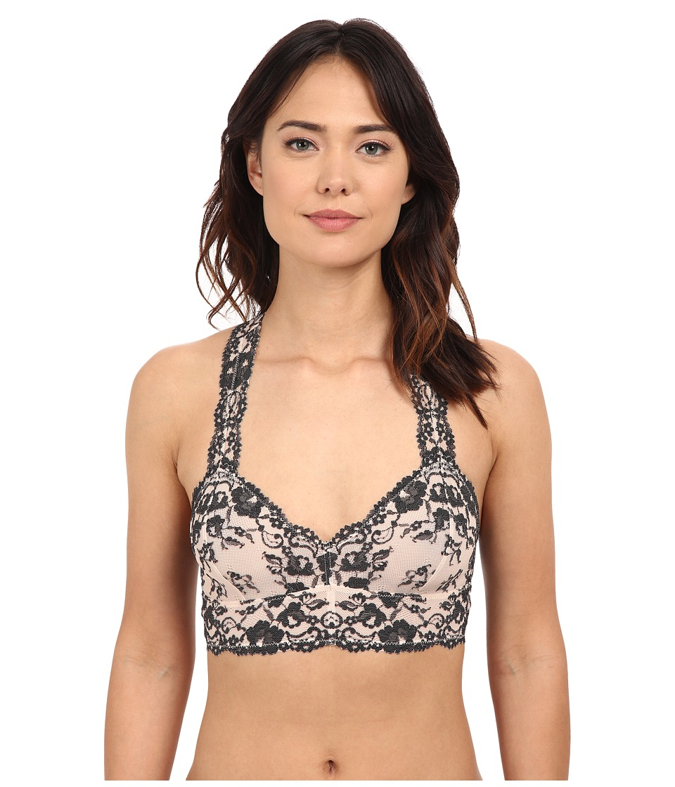 Free People - Cross Dye Galoon Lace Racerback Bra OB409418 (Champagne/Black Combo) Women's Bra