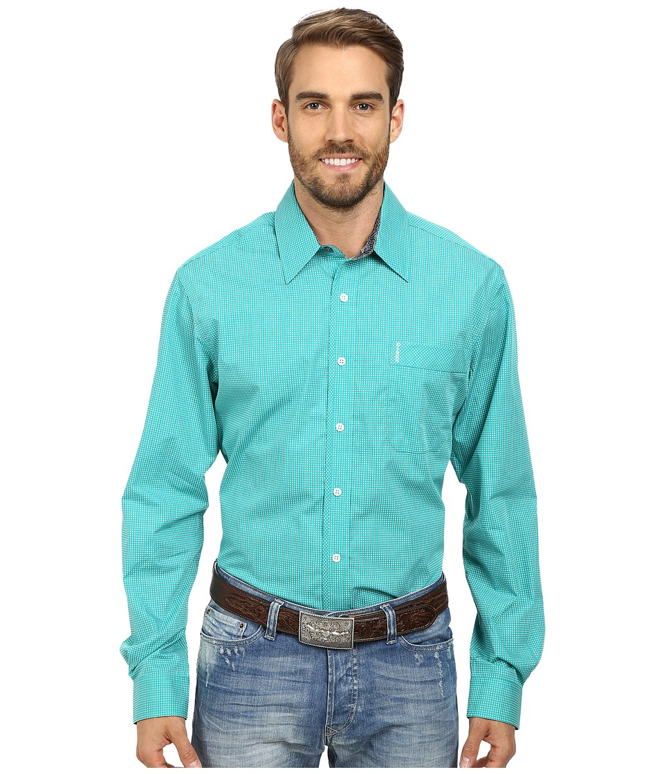 Cinch - Modern Fit Long Sleeve Shirt (Green) Men's Long Sleeve Button Up