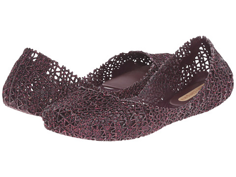 Melissa Shoes - Melissa Campana Papel III (Brown Glitter) Women's Shoes