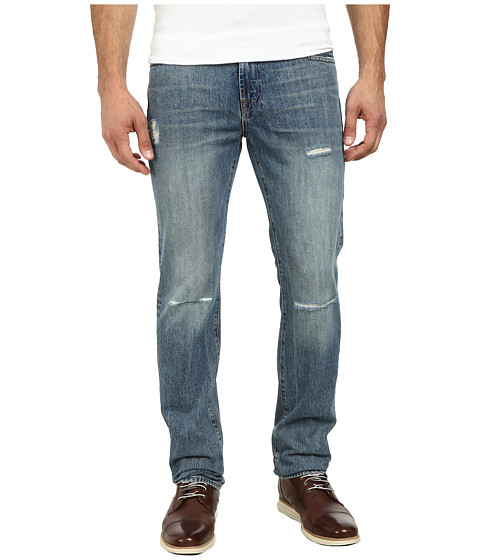 7 For All Mankind - Slimmy Slim Straight w/ Clean Pocket in Coastal Erosion (Coastal Erosion) Men's Jeans