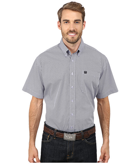 Cinch - Short Sleeve Print Shirt (Lilac) Men's Short Sleeve Pullover