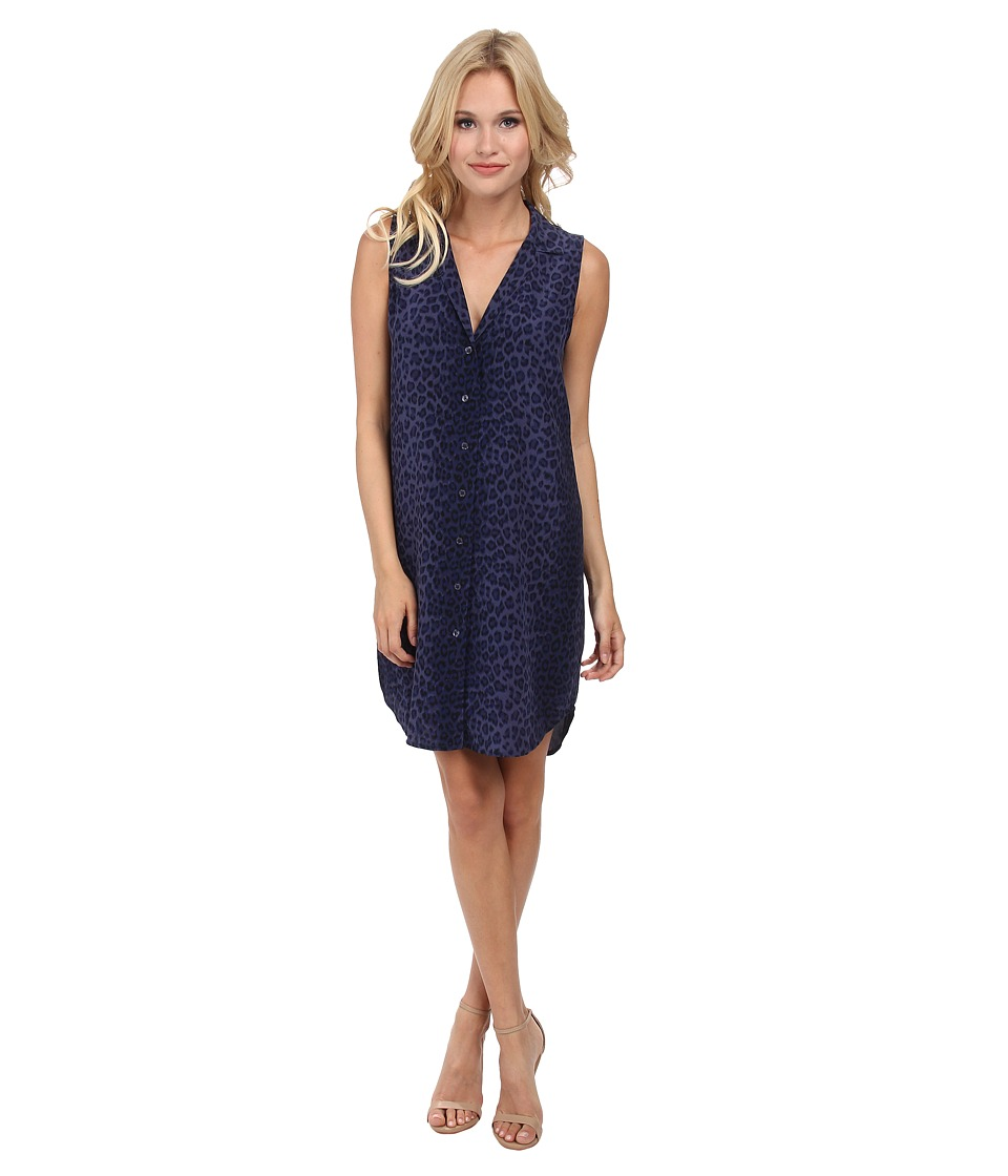 EQUIPMENT - Sleeveless Adalyn Dress (Peacoat Multi) Women's Dress