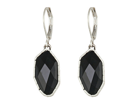 The Sak - Irregular Stone Drop Earrings (Black/Silver) Earring