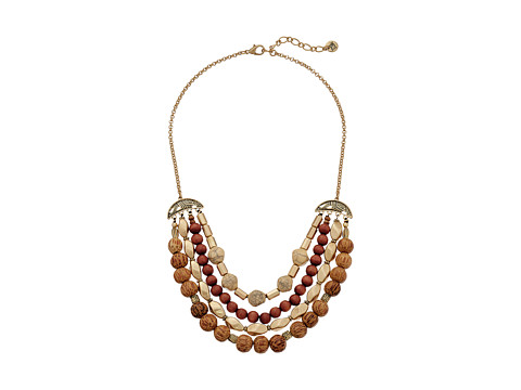 The Sak - Multi Row Beaded Necklace 18 (Brown) Necklace