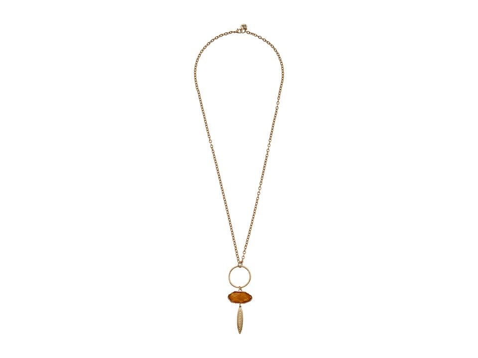 The Sak - Irregular Stone Pendant Necklace 28 (Carnelian) Necklace