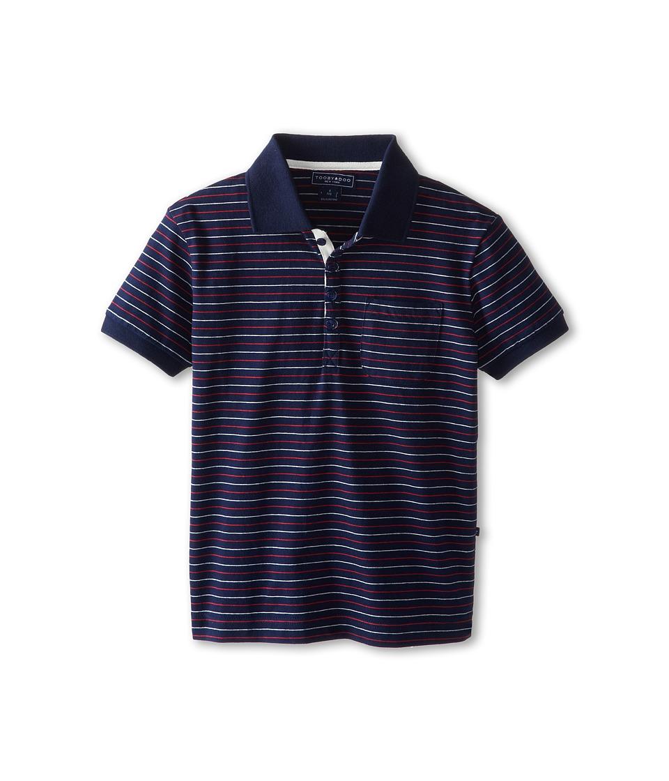 Toobydoo - Pin Stripe Polo Shirt (Little Kids/Big Kids) (Blue) Boy