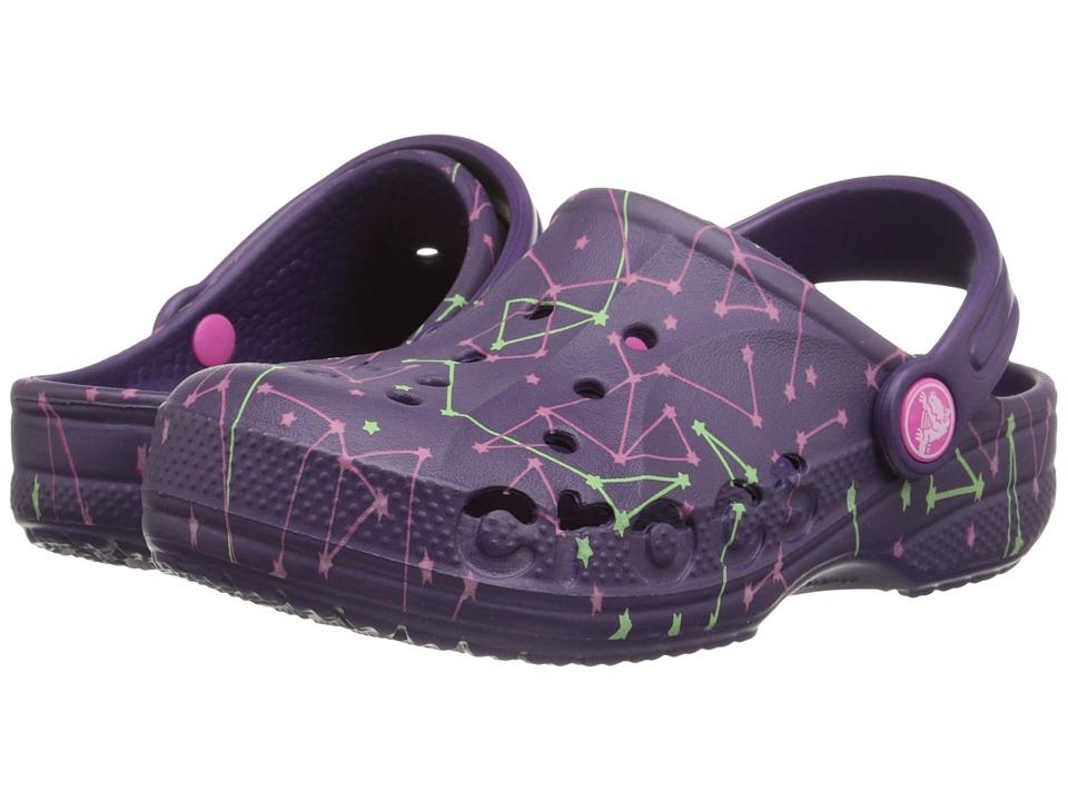 Crocs Kids - Baya Galactic Clog (Toddler/Little Kid) (Royal Purple) Kids Shoes