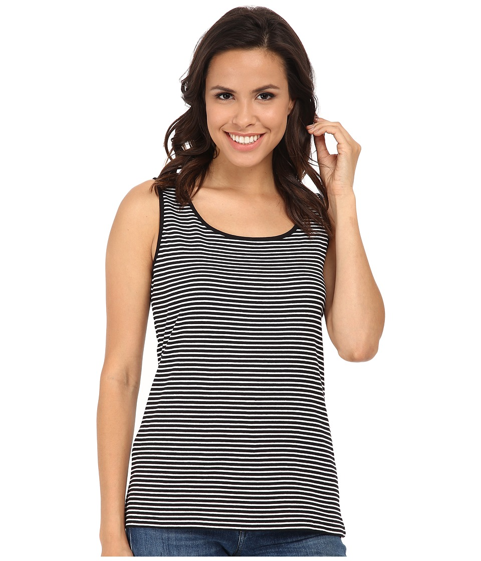 Jones New York - Stripe Scoop Neck Tank Top (Black/J White) Women's Sleeveless