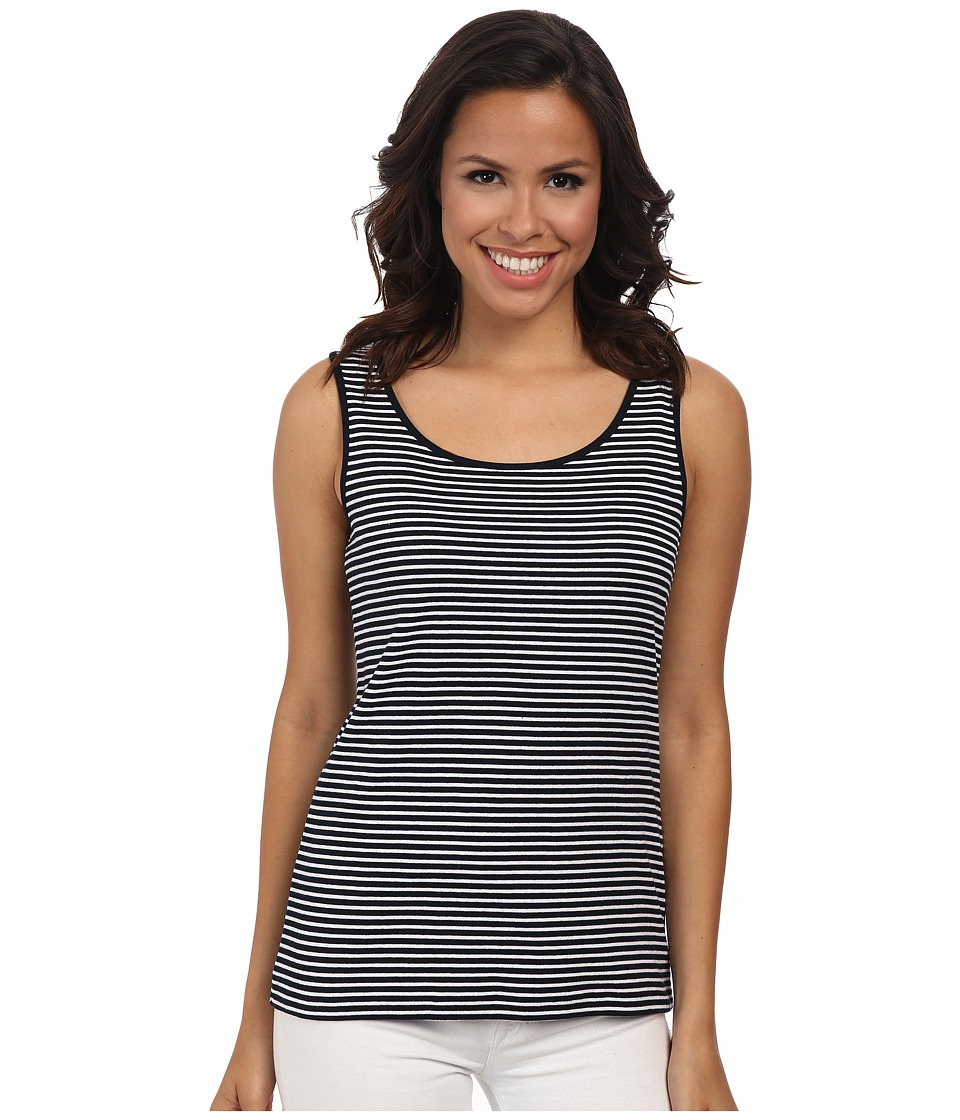 Jones New York - Stripe Scoop Neck Tank Top (Navy/J White) Women's Sleeveless