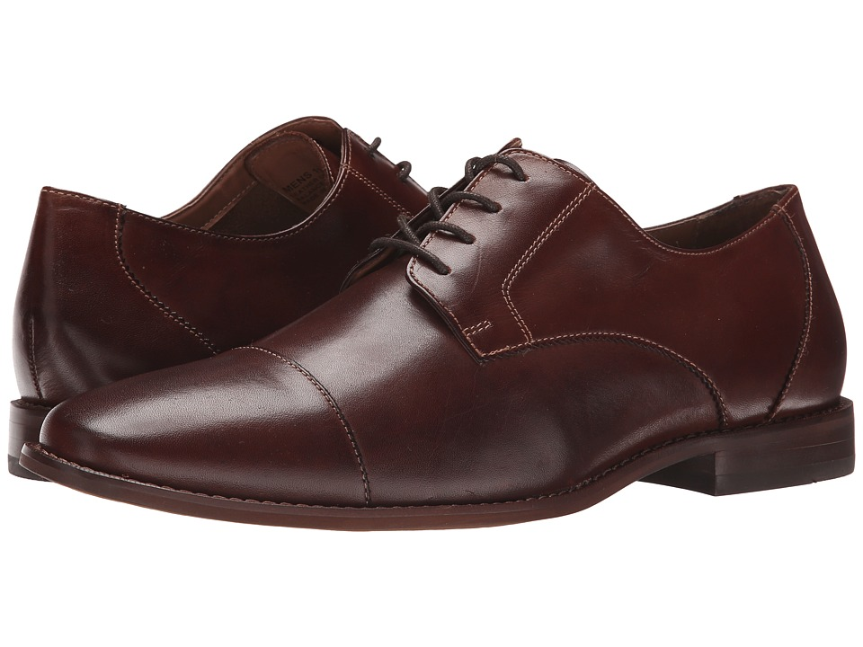 Florsheim - Montinaro Cap Toe Oxford (Brown Smooth) Men's Lace Up Cap Toe Shoes