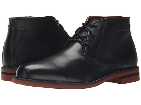 Florsheim - Dusk Chukka Boot (Black Smooth) Men's Boots