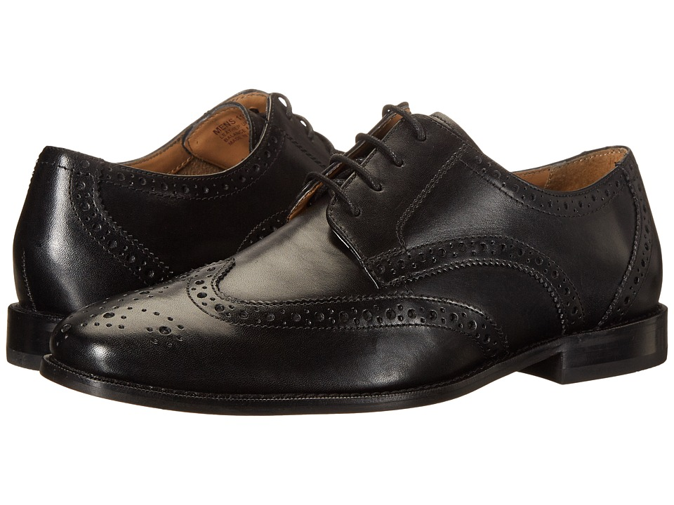 Florsheim - Montinaro Wingtip Oxford (Black Smooth) Men's Lace Up Wing Tip Shoes