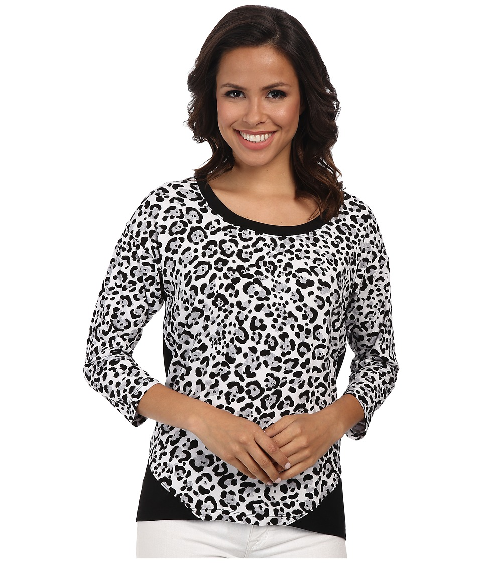 Jones New York - Animal Print Bottom Wrap Top (Black Multi) Women