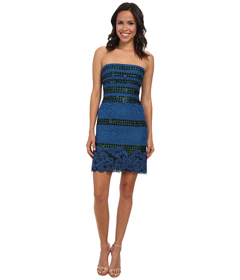 BCBGMAXAZRIA - Manuela Strapless Dress (Starlight Blue Combo) Women