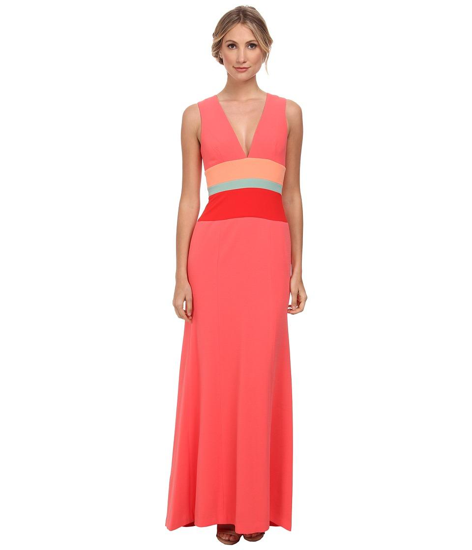 BCBGMAXAZRIA - Lizette Sleeveless Dress (Coral Reef Combo) Women