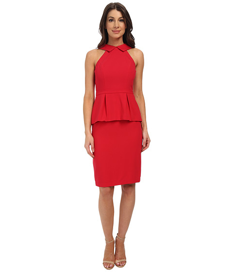 BCBGMAXAZRIA - Tula Peplum Dress (Rio Red) Women