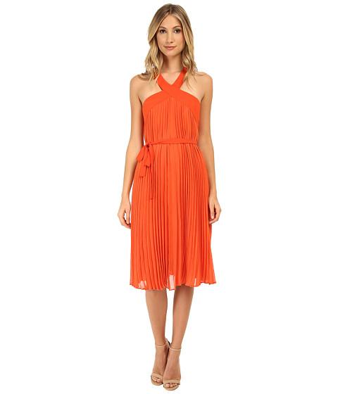 BCBGMAXAZRIA - Eloise Pleated Cocktail Dress (Saffron) Women