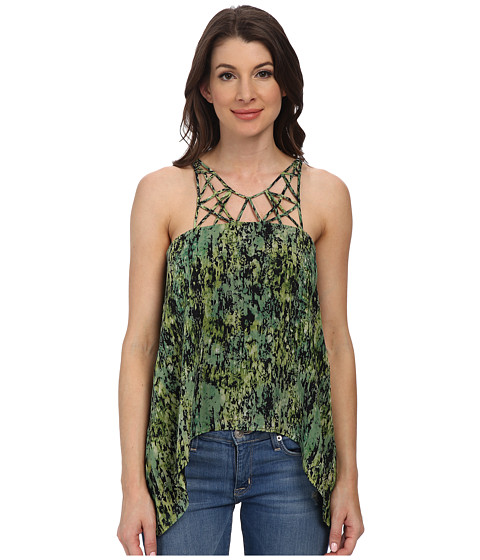 BCBGMAXAZRIA - Bakar Silk Top (Evergreen Combo) Women