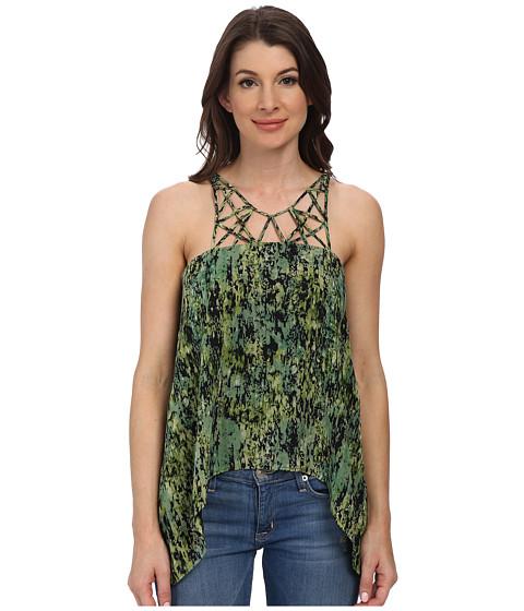 BCBGMAXAZRIA - Bakar Silk Top (Evergreen Combo) Women