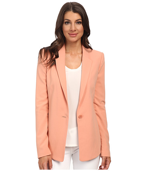 BCBGMAXAZRIA - Jack Contoured-Hem Blazer Jacket (Blush) Women's Coat