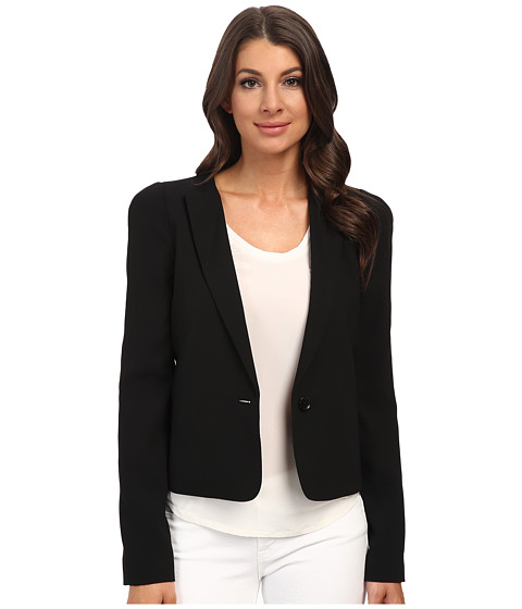 BCBGMAXAZRIA - Jordyn Collarless Jacket (Black) Women