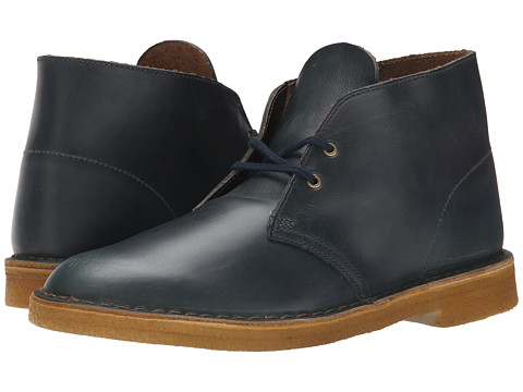 Clarks - Desert Boot (Midnight Blue Leather) Men's Lace-up Boots
