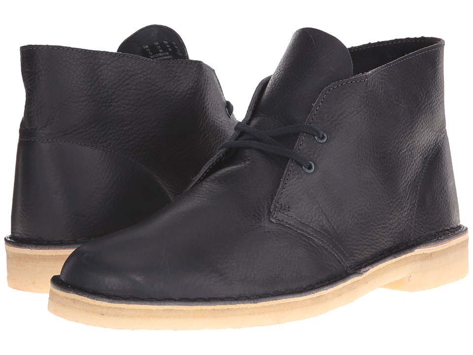 Clarks - Desert Boot (Navy Leather) Men's Lace-up Boots