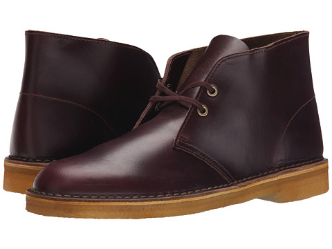 Clarks - Desert Boot (Wine Leather) Men's Lace-up Boots