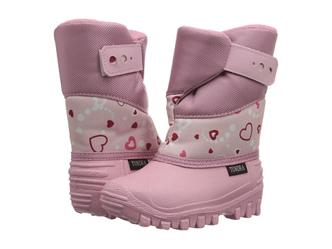 Tundra Boots Kids - Puelbo 5 (Toddler/Little Kid) (Pink Hearts) Girl's Shoes