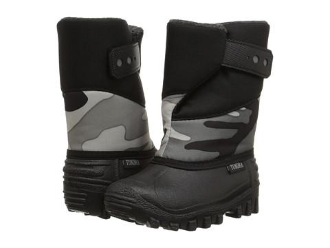 Tundra Boots Kids - Puelbo 5 (Toddler/Little Kid) (Black/Camo) Boy