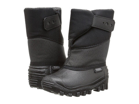 Tundra Boots Kids - Puelbo 5 (Toddler/Little Kid) (Black/Silver) Boy
