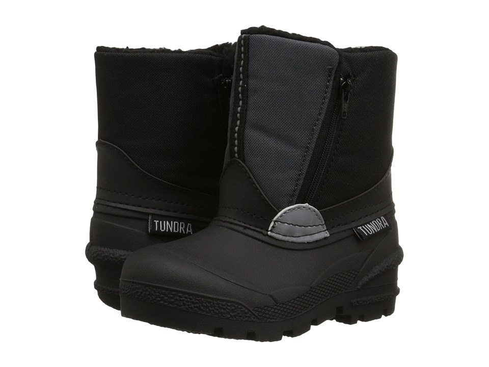 Tundra Boots Kids Lucky 5 (Toddler) (Black/Grey 1) Boys Shoes