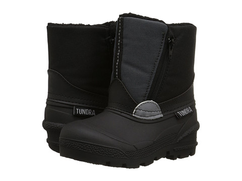 Tundra Boots Kids - Lucky 5 (Toddler) (Black/Grey 1) Boys Shoes