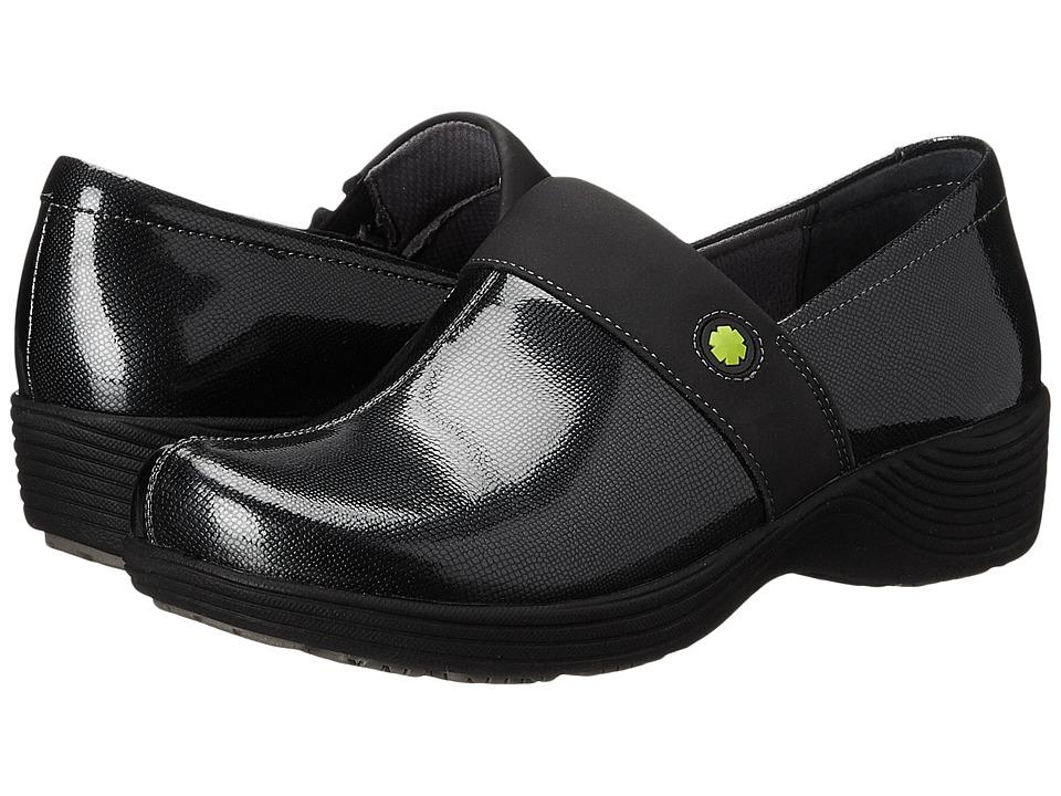 Work Wonders by Dansko - Camellia (Grey Textured Patent) Women's Clog Shoes