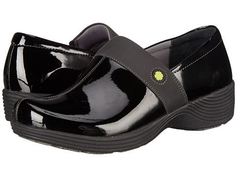 Work Wonders by Dansko - Camellia (Black Patent) Women's Clog Shoes