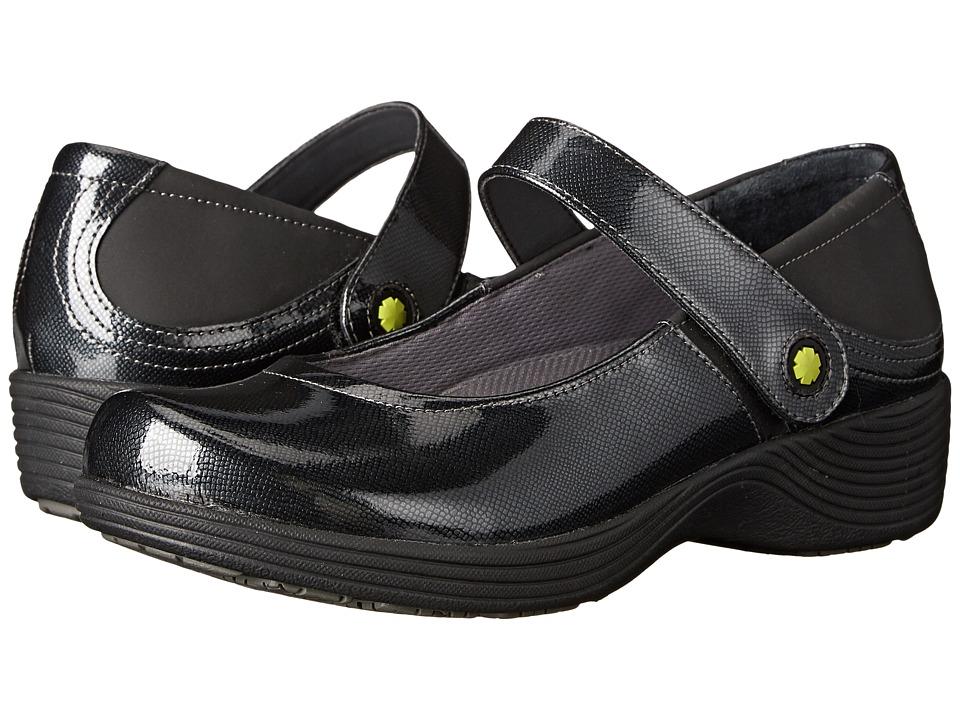 Work Wonders by Dansko - Clover (Grey Textured Patent) Women's Clog Shoes