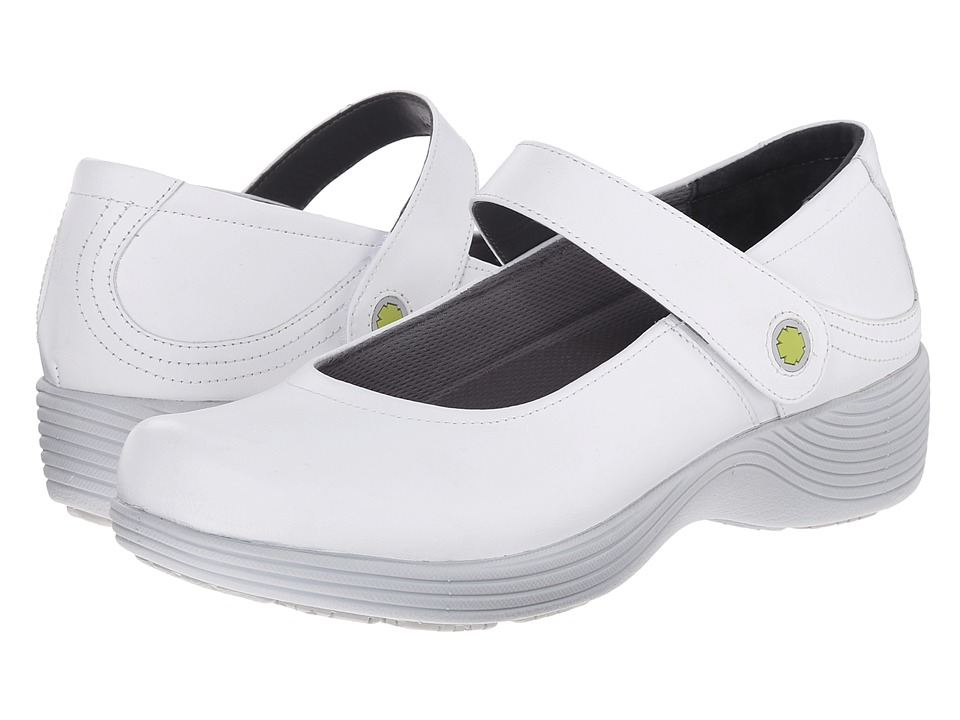 Work Wonders by Dansko - Clover (White Leather) Women's Clog Shoes