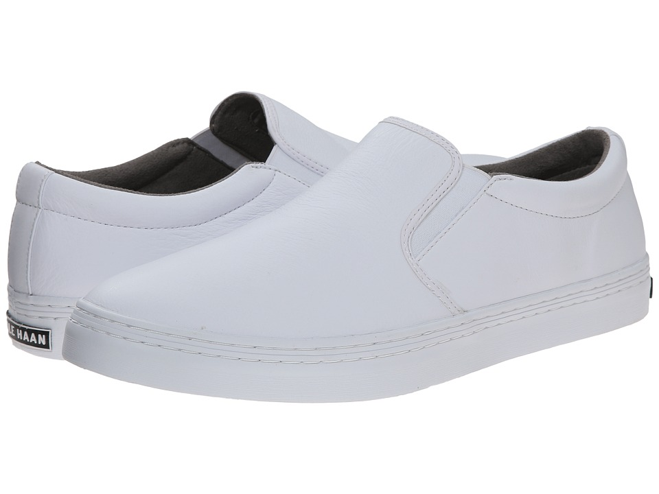 Cole Haan - Falmouth Slip-On (White) Men's Slip on Shoes