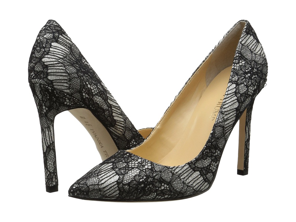 Ivanka Trump Carra3 (Gold/Black Lace) High Heels