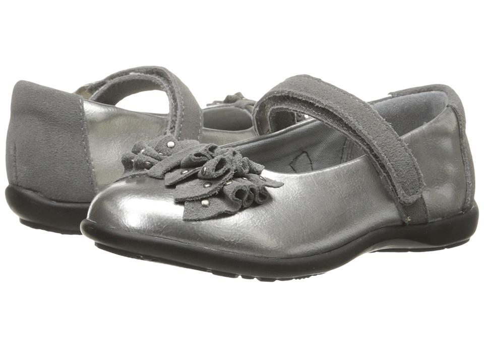 Jumping Jacks Kids - Valerie Balleto (Toddler/Little Kid/Big Kid) (Pewter Metallic/Pewter Suede Trim) Girls Shoes