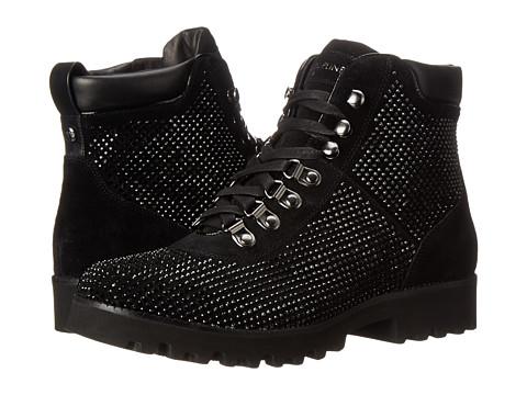 Donald J Pliner - Reece SP (Black Oily Suede) Women's Lace-up Boots