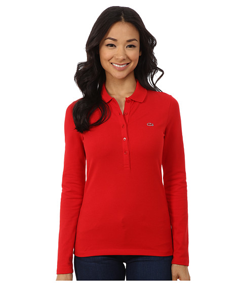 Lacoste - Long Sleeve Stretch Pique Polo (Vesuvius) Women's Long Sleeve Pullover