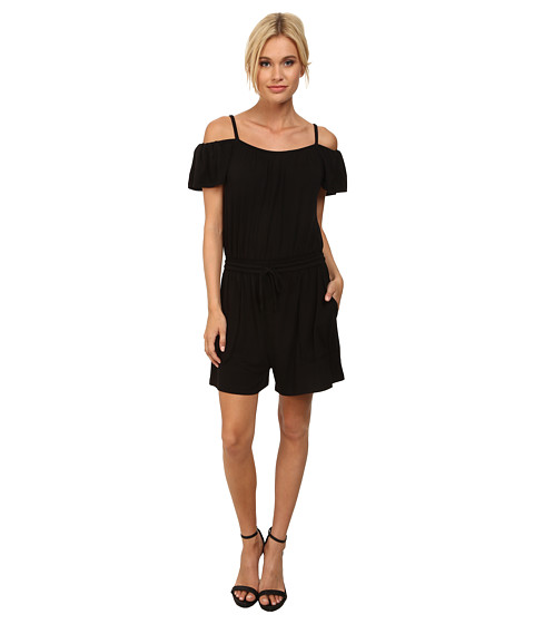 Rebecca Minkoff - Ashby Romper (Black) Women's Jumpsuit & Rompers One Piece