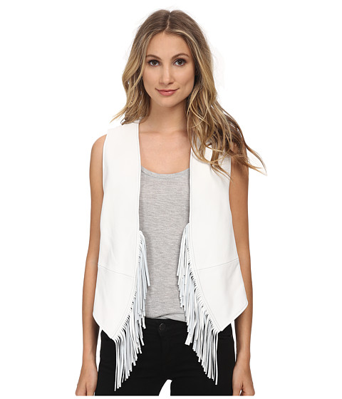 Rebecca Minkoff - Tiffy Fringe Vest (Chalk) Women