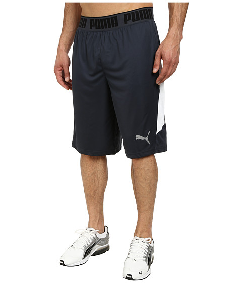 PUMA - 12 Mixed Statement Short (Blue Nights/White) Men's Workout