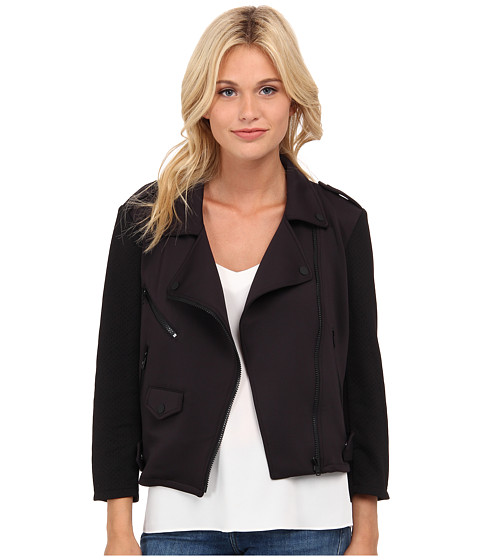 Rebecca Minkoff - Wes Moto Jacket (Black) Women's Coat