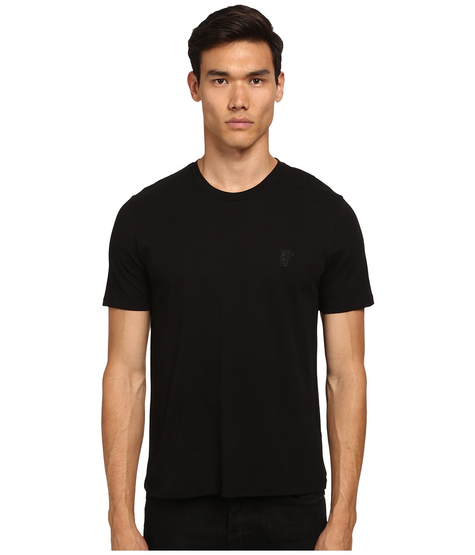 Versace Collection - Medusa Logo Crew Neck T-Shirt (Black) Men's T Shirt