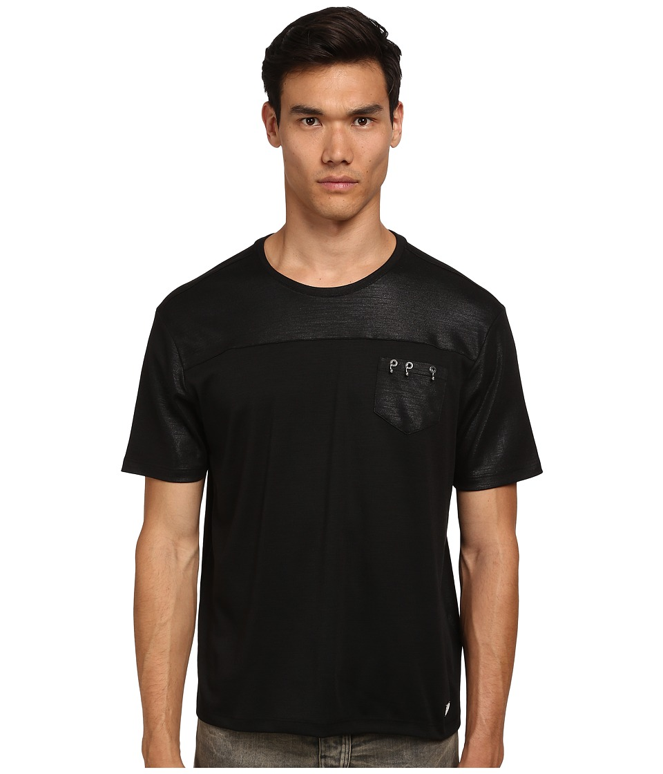 Versace Collection - Interlocking Rings Pocket Shirt (Black) Men