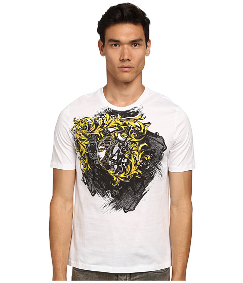 Versace Collection - Baroque Graffiti T-Shirt (White) Men's T Shirt